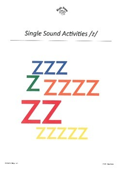 WJQVXYZ Alphabet Sounds /z/