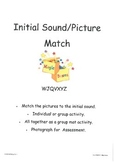 WJQVXYZ Initial Sound Picture Match