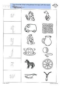 WJQVXYZ Activity Sheets