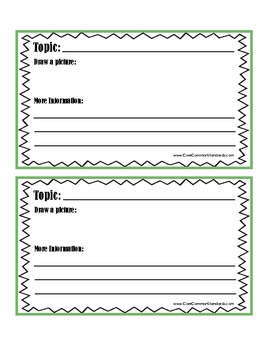 W.K.2 Kindergarten Common Core Worksheets, Activity, and Poster