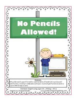 W.K.6 Kindergarten Common Core Worksheets, Activity, and Poster