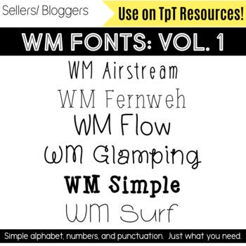 WM Fonts: Volume 1