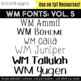 WM Fonts: Volume 5