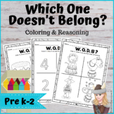 WODB Responsive Classroom Math Which One Doesn't Belong COLORING & REASONING