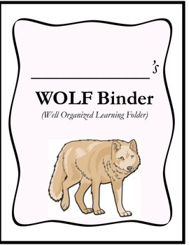 WOLF Binder Cover