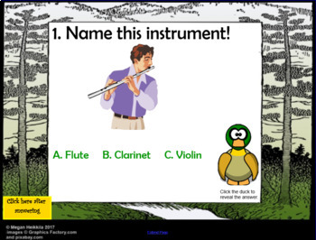 WOLF TRACKER- Peter and the Wolf Instrument ID Game -Elementary Music SmartBoard