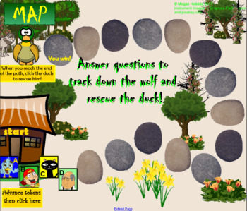 WOLF TRACKER Peter and the Wolf Instrument Game - Elementary Music - Use for Sub