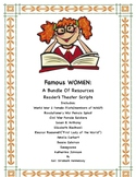 WOMEN'S HISTORY: A BUNDLE of 10 READER'S THEATER SCRIPTS