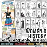 WOMEN'S HISTORY MONTH, BODY BIOGRAPHY PROJECT BUNDLE