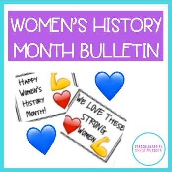 WOMEN'S HISTORY MONTH BULLETIN Print&Post Celebrating STRONG Women