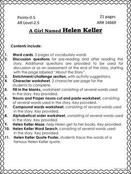 Betsy Ross Helen Keller Ruby Bridges Book Studies Bundle