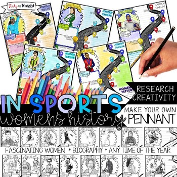WOMEN'S HISTORY MONTH, WOMEN IN SPORTS, BIOGRAPHY RESEARCH, PENNANT