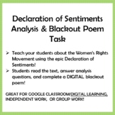 WOMEN'S RIGHTS, Declaration of Sentiments Analysis & Digit