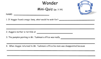 WONDER - 11 Quick Mini-Quizzes