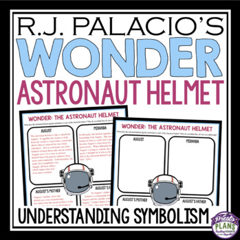 WONDER BY RJ PALACIO SYMBOLISM ACTIVITY - ASTRONAUT HELMET ...