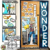 WONDER BY R.J. PALACIO KINDNESS, COLLABORATIVE CLASSROOM DOOR POSTER, & BOOKMARK