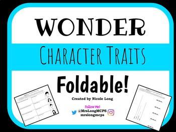WONDER Character Traits Foldable!