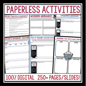 WONDER DIGITAL PAPERLESS UNIT PLAN FOR GOOGLE DRIVE / GOOGLE CLASSROOM