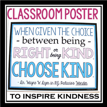 WONDER: FREE CHOOSE KIND BOOKMARKS & POSTER