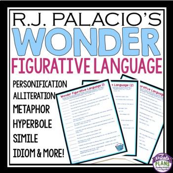 WONDER BY R.J. PALACIO FIGURATIVE LANGUAGE