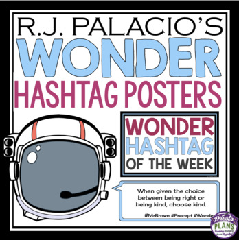 WONDER BY R. J. PALACIO QUOTE POSTERS: HASHTAGS