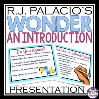 WONDER By R.J. PALACIO INTRODUCTION