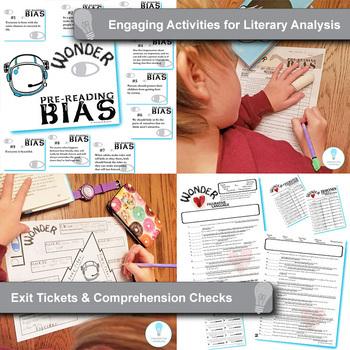 WONDER Unit Anti-Bullying Novel Study (Palacio) - Literature Guide