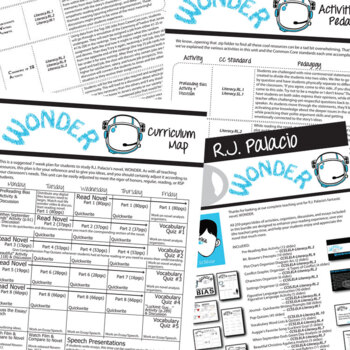 WONDER Unit - Anti-Bullying Novel Study Bundle (Palacio) - Literature Guide