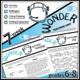 WONDER Unit Plan - Anti-Bullying Novel Study Bundle (Palac