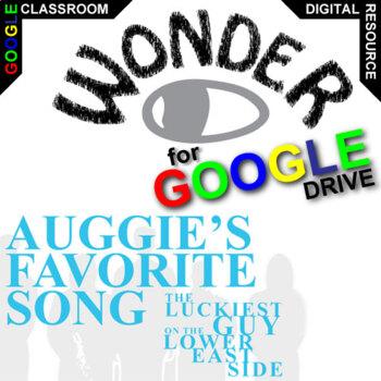 WONDER Auggie's Favorite Song (Created for Digital) Palacio R.J. Novel