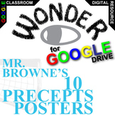 WONDER Mr. Browne's 10 Precepts Posters (Digital Distance Learning) Palacio