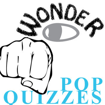 WONDER Palacio R.J. Novel 11 Pop Quizzes Bundle