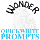 WONDER Journal - Quickwrite Writing Prompts - Palacio R.J.