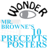 WONDER Mr. Browne's Precepts (10 Class Posters) - Palacio R.J. Novel
