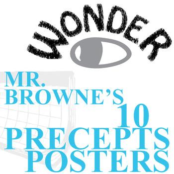 WONDER Palacio R.J. Novel Mr. Browne's Precepts (10 Class