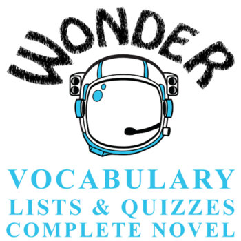 WONDER Palacio, R.J. Novel Vocabulary Complete Novel (75 words)