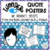 WONDER Quote Posters of Mr. Browne's Precepts - book by R.J. Palacio