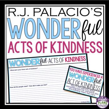 WONDER BY RJ PALACIO KINDNESS ACTIVITY