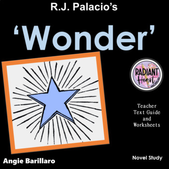 WONDER NOVEL STUDY HIGH SCHOOL ELA ENGLISH  R.J.Palacio DISTANCE EDUCATION