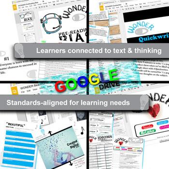 WONDER Unit Anti-Bullying Novel Study - Literature Guide (Created for Digital)