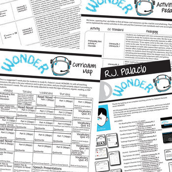 WONDER Unit Novel Study - Literature Guide (Print & Digital Included)
