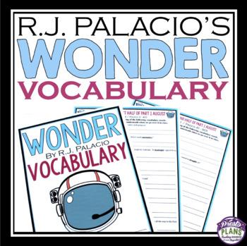WONDER BY R J PALACIO VOCABULARY