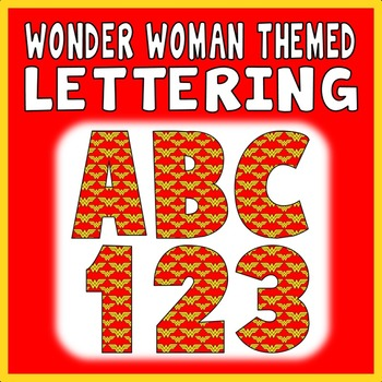 WONDER WOMAN THEMED LETTERS & NUMBERS - DISPLAY ALPHABET S