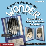 WONDER by RJ Palacio - Character Agamograph Activities