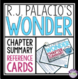 WONDER BY R.J. PALACIO CHAPTER SUMMARY CARDS