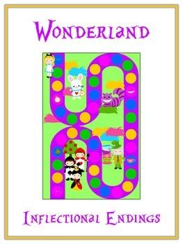 WONDERLAND Inflectional Word Endings - ELA First Grade Game - Word Work Center