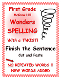 "WONDERS 1st Grade SPELLING with extra words! No repeats ""F"