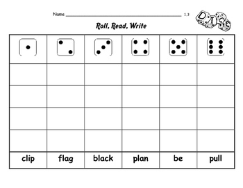 "WONDERS 1st Grade SPELLING with extra words! No repeats ""Roll the Dice"""