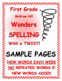 "WONDERS 1st Grade SPELLING with extra words! No repeats ""S"