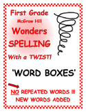 """WONDERS 1st Grade SPELLING with extra words! No words repeated! """"Word Boxes"""""""